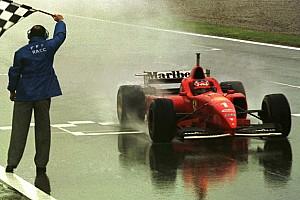 Formel 1 Historie Vor 21 Jahren: Michael Schumachers 1. Sieg für Ferrari – im Regen