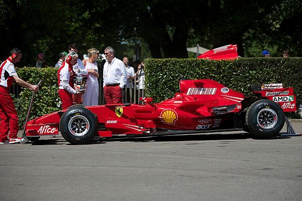 Vintage Rigon sulla F2007 a Goodwood per i 70 anni della Ferrari