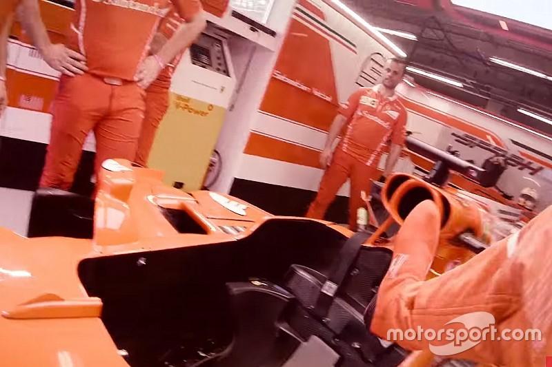 VÍDEO: Veja em 1ª pessoa preparação de Vettel para GP
