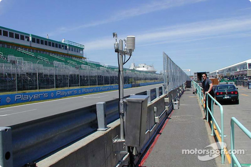 Instruments and new fence along pit lane