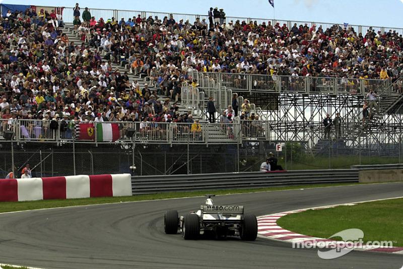 Jenson Button exiting the Senna hairpin