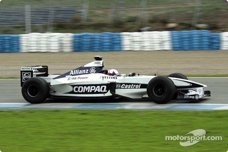 First laps for Juan Pablo Montoya