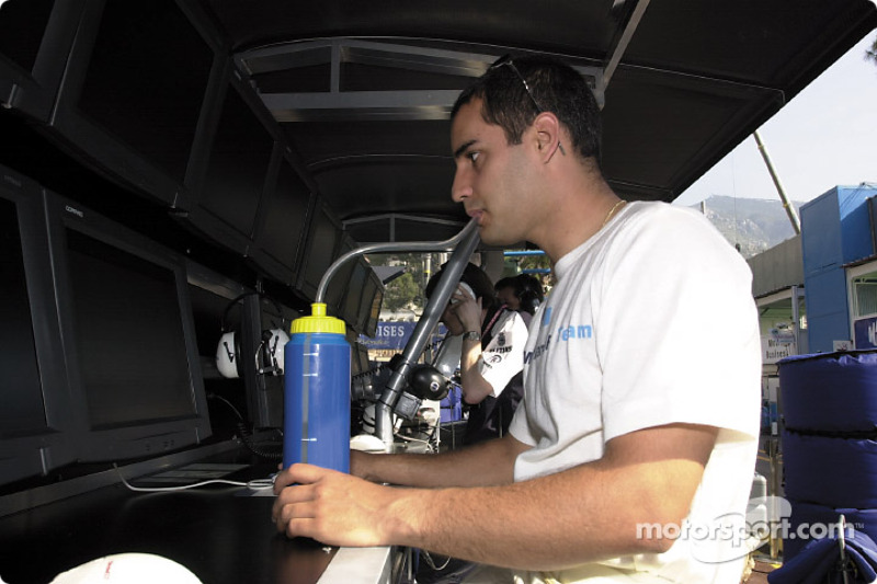 Juan Pablo Montoya, before the race