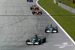warmup lap: Jaguars ve Arrows