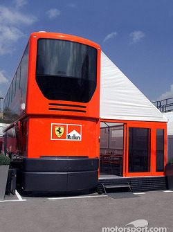 The Ferrari motorhome