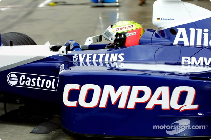 Ralf Schumacher leaving the garage
