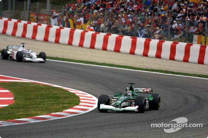 Eddie Irvine and Olivier Panis