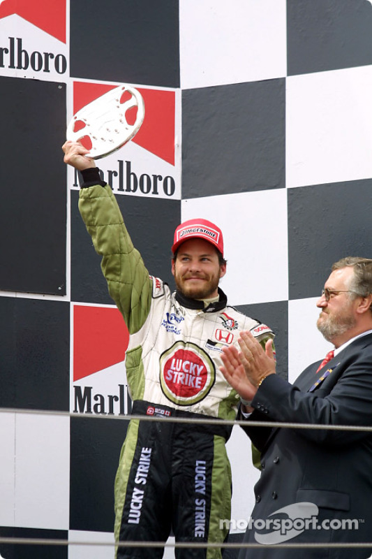 The podium: Jacques Villeneuve