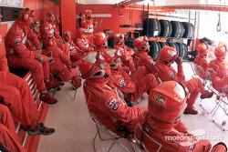 The Ferrari crew
