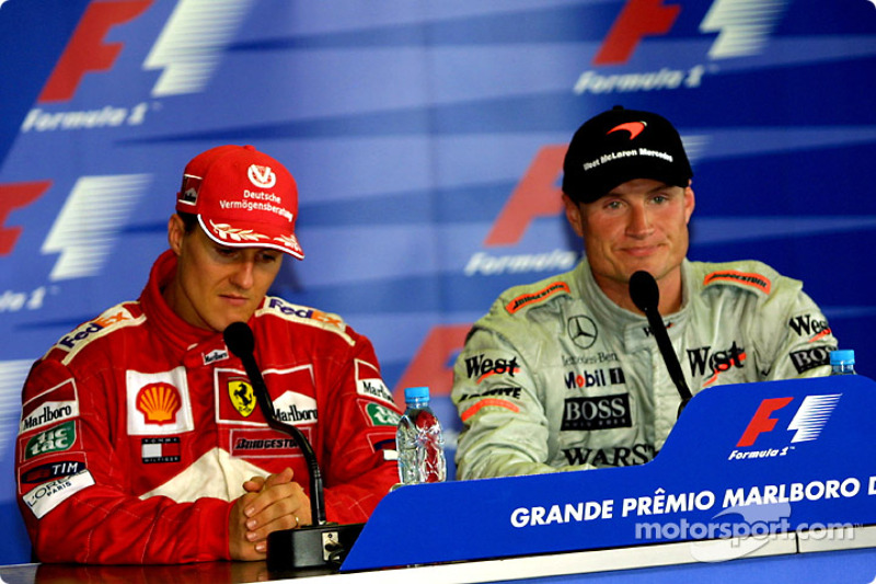 Press conference: Michael Schumacher and David Coulthard