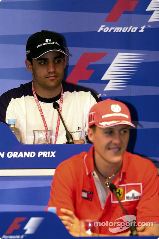 Press conference: Juan Pablo Montoya and Michael Schumacher