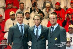 Michael Schumacher, Luca Badoer y Rubens Barrichello