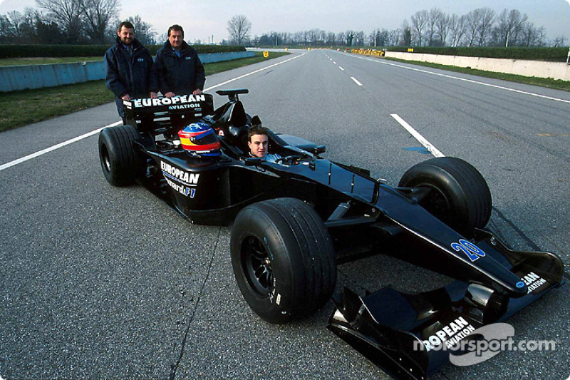 Paul Stoddart,Gian Carlo Minardi and Fernando Alonso