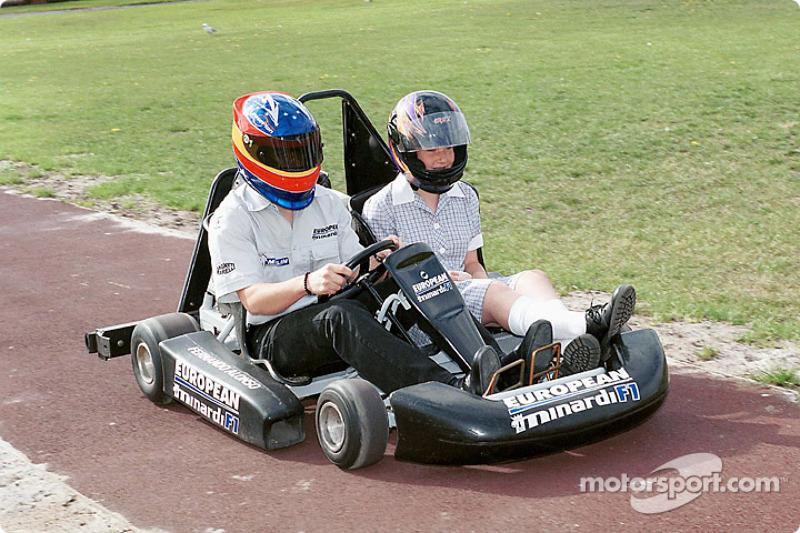 Postcard from Australia: Fernando Alonso and passenger