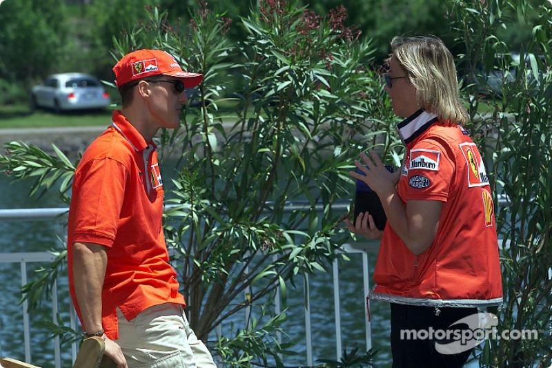Michael Schumacher and his press officer, Sabine Kehm