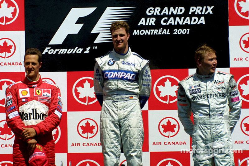 2001 - 1. Ralf Schumacher, 2. Michael Schumacher, 3. Mika Häkkinen