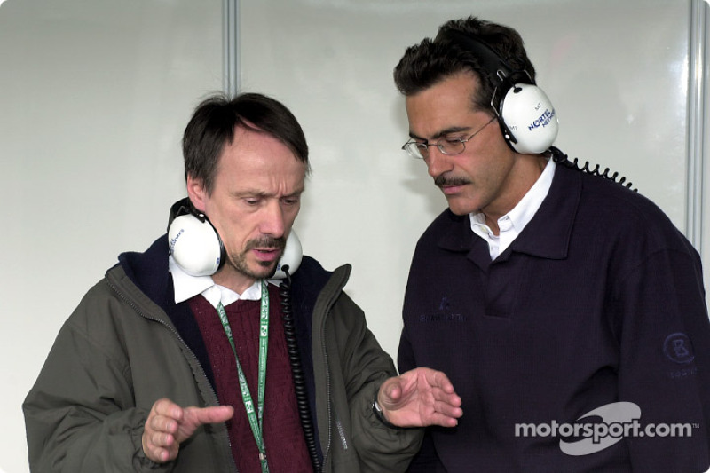BMW Head of F1 Construction Heinz Paschen with BMW Motorsport Director Dr. Mario Theissen