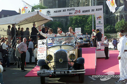 Champion Racing during the drivers parade: Didier Theys, Johnny Herbert and Ralf Kelleners