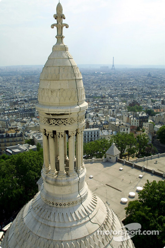 Paris and the Eiffel Tower seen from Montmartre
