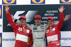 Podyum: Michael Schumacher, Mika Hakkinen ve Rubens Barrichello