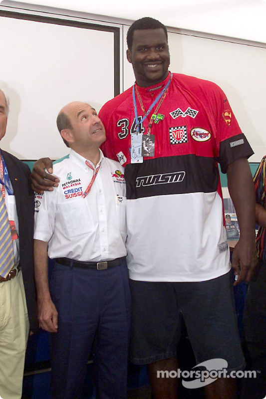 Peter Sauber with Shaquille O'Neal