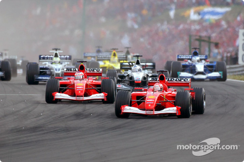 start: Michael Schumacher front, Rubens Barrichello
