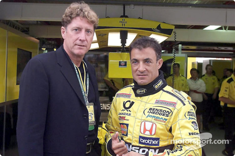 Jean Alesi with a guest