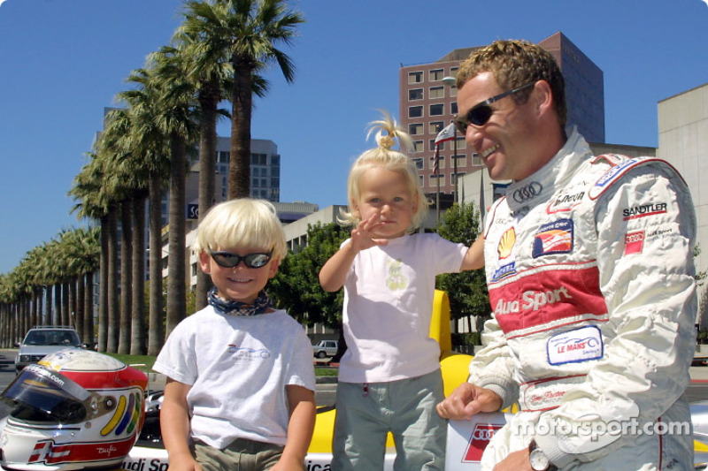Tom Kristensen with his kids