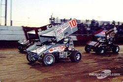 Dale Blaney #10 battles with Shawna Wilskey #5 and Brad Furr #2