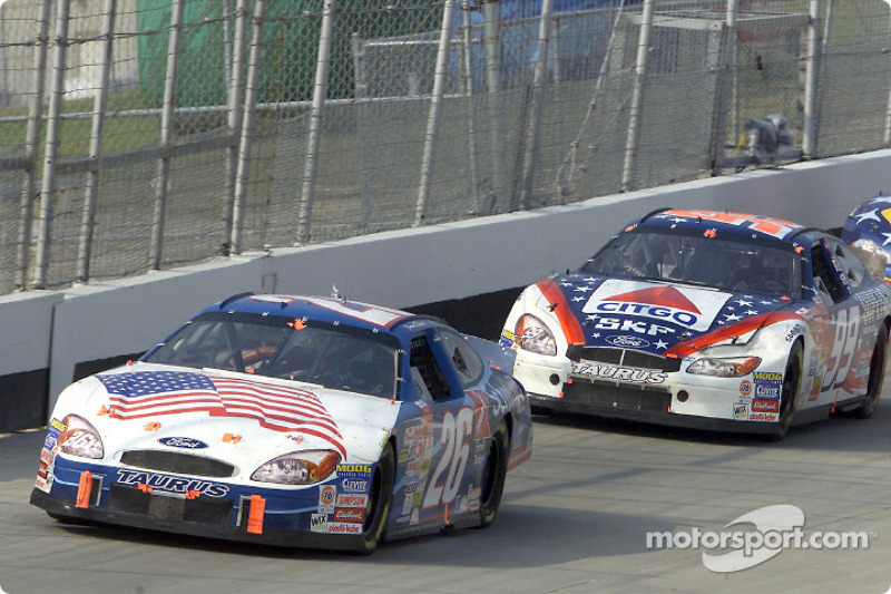 Jimmy Spencer and Jeff Burton