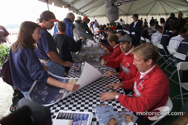 The Audi drivers at the autograph session