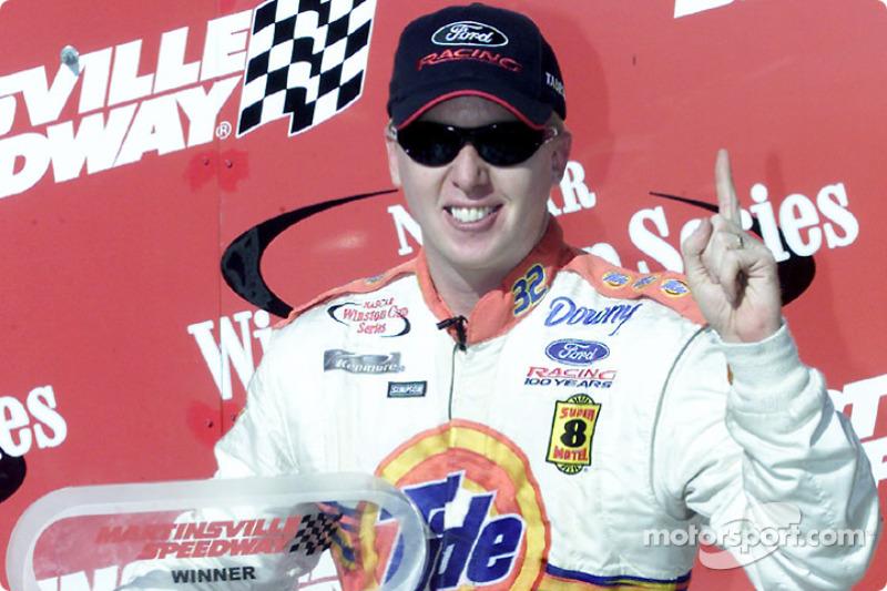 Race winner Ricky Craven