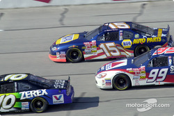 Johnny Benson, Michael Waltrip and Jeff Burton