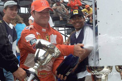 Champagne for Rubens Barrichello