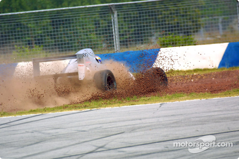 Omo diving into the gravel