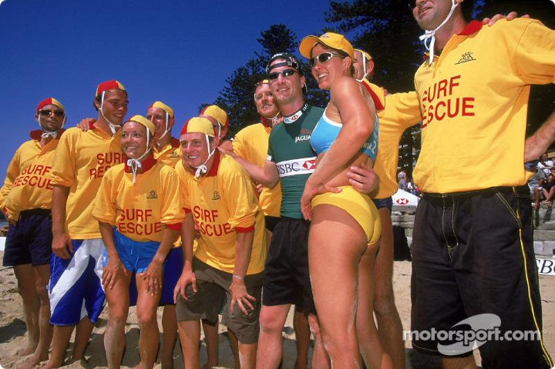 Beach Volleyball on Manly Beach in Sydney: Eddie Irvine