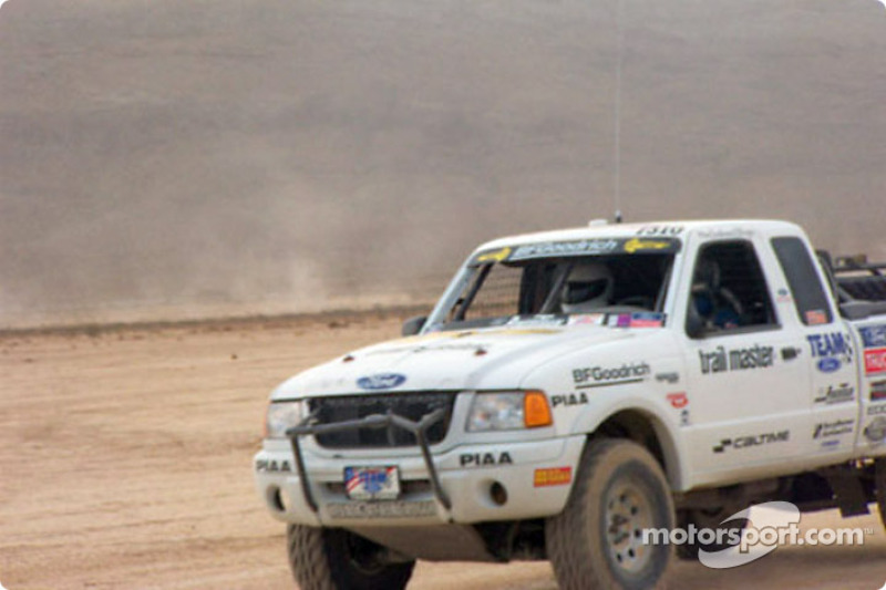 Rob MacCachren Ford Ranger coming into pits
