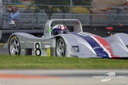 Rand Racing's Anthony Lazzaro pilots the Nissan Lola through the International Horseshoe at Daytona