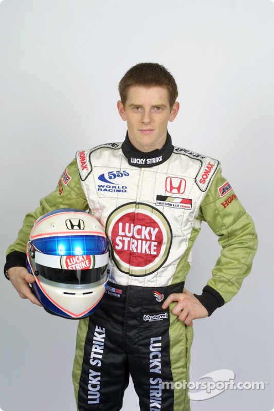 Test driver Anthony Davidson