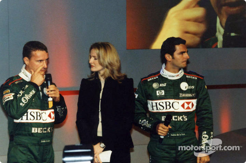 Eddie Irvine, Gaby Yorath and Pedro de la Rosa