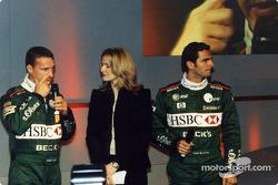 Eddie Irvine, Gaby Yorath et Pedro de la Rosa
