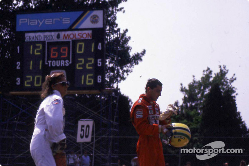 Après la course : Ayrton Senna