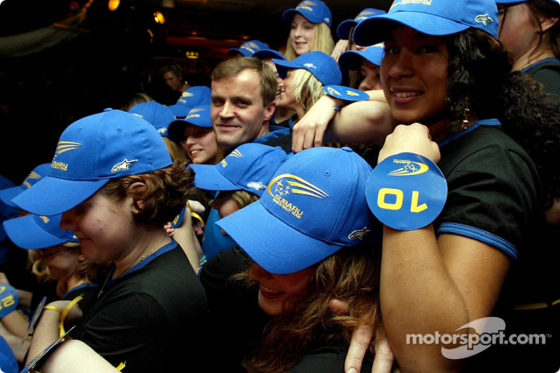 At Tommi's party, each of the SWRT girls represented one of his World Rally victories