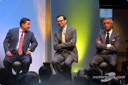Patrick Faure, Louis Schweitzer and Flavio Briatore