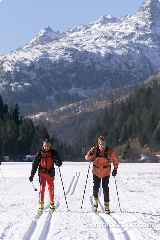 Tom Kristensen et Frank Biela à St. Moritz