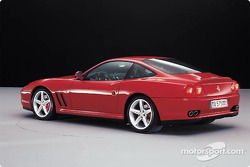 The new Ferrari 575M Maranello was also presented during the F2002 launch event
