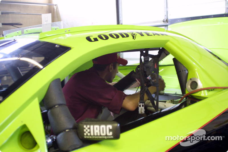 Preparing the inside of the car