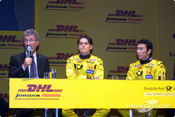 Questions and answers with Eddie Jordan, Giancarlo Fisichella and Takuma Sato
