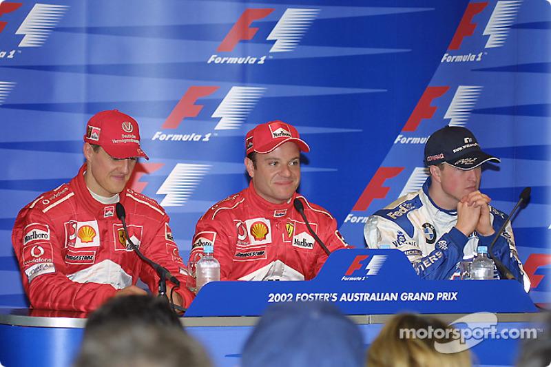 Conférence de presse : Michael Schumacher, Rubens Barrichello et Ralf Schumacher