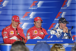 Press conference: Michael Schumacher, Rubens Barrichello and Ralf Schumacher